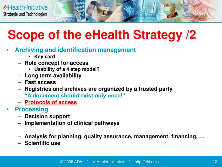 Scope of the eHealth Strategy /2