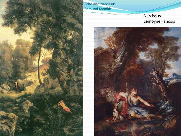 ppt the story of echo and narcissus powerpoint presentation id  narcissus lemoyne fancois