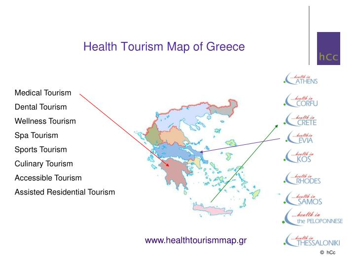 Health Tourism Map of Greece