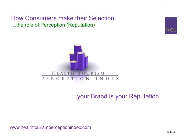 How Consumers make their Selection