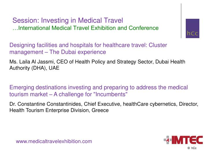 Session: Investing in Medical Travel