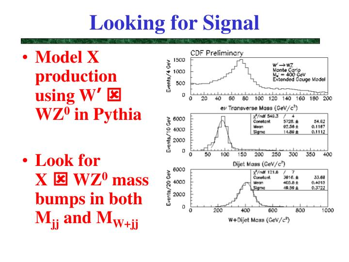 Looking for Signal