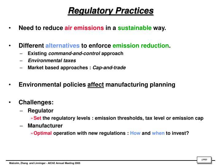 Regulatory Practices