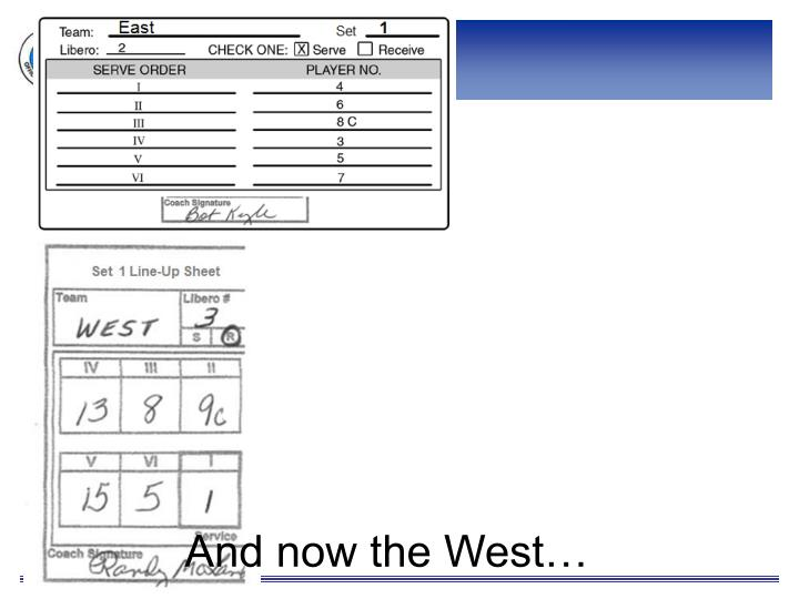 And now the West…