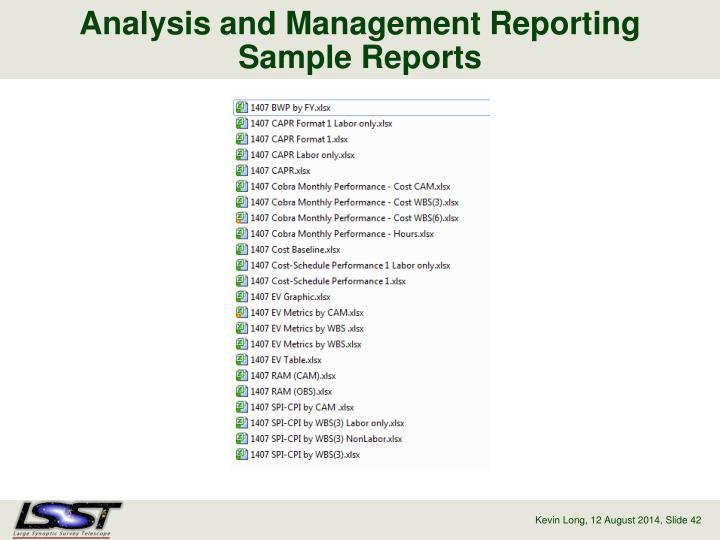 Analysis and Management