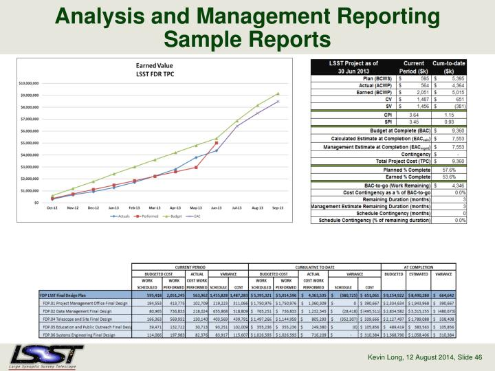 Analysis and Management Reporting