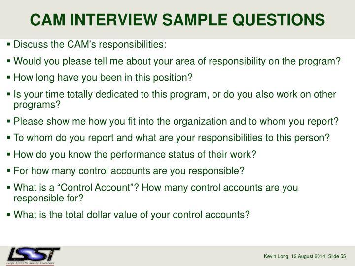CAM INTERVIEW