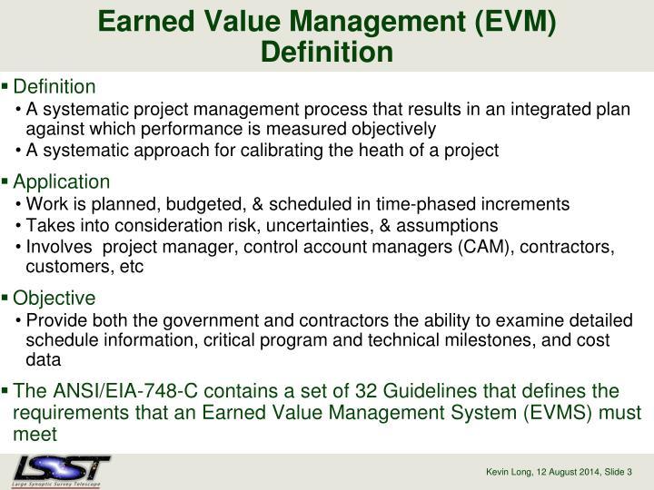 Earned value management evm definition