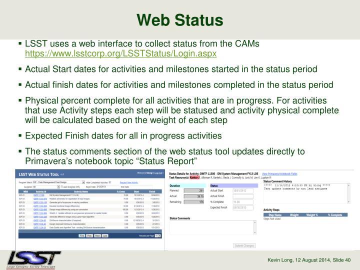Web Status