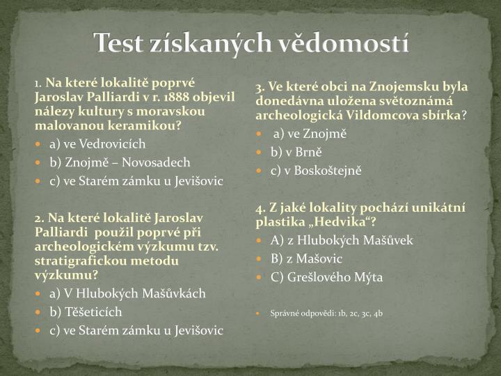 Test získaných vědomostí
