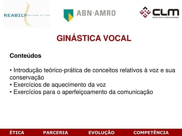 GINÁSTICA VOCAL