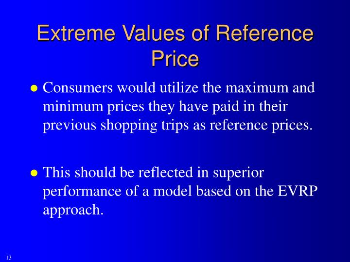 Extreme Values of Reference Price