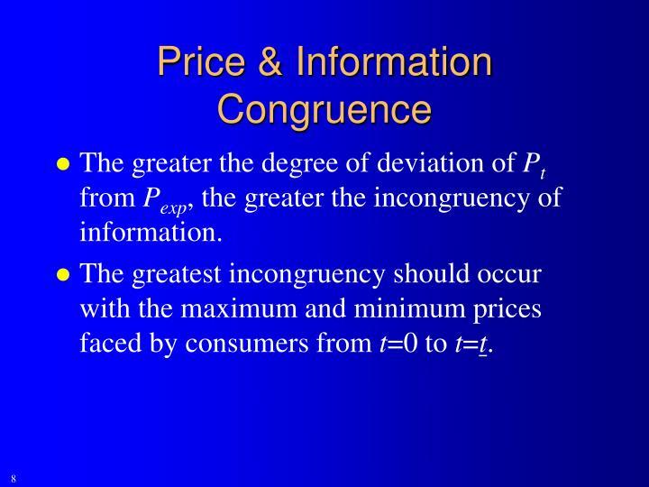 Price & Information Congruence