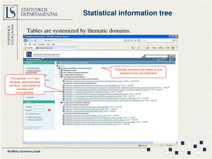 Statistical information tree