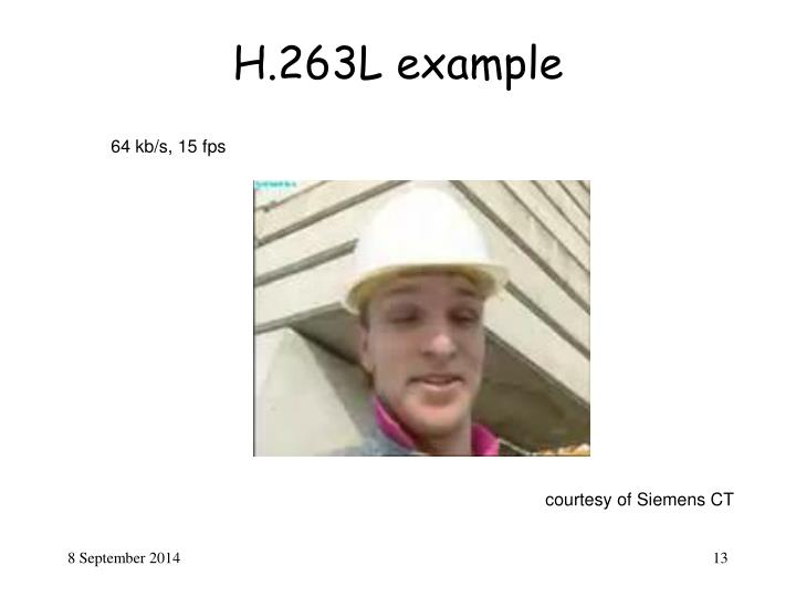 H.263L example