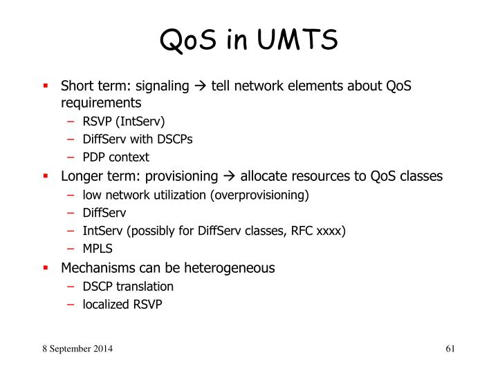 QoS in UMTS