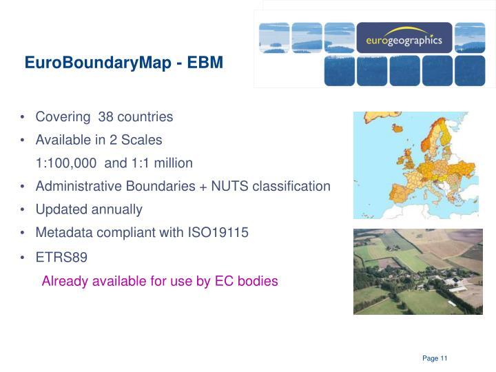 EuroBoundaryMap - EBM