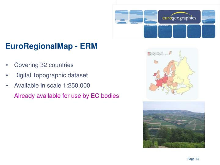 EuroRegionalMap - ERM
