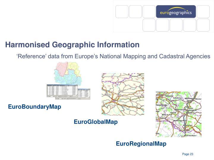 Harmonised Geographic Information