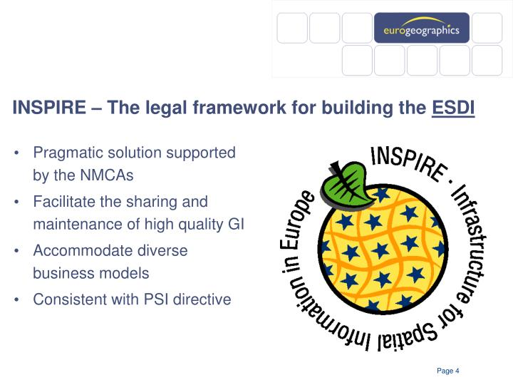 INSPIRE – The legal framework for building the