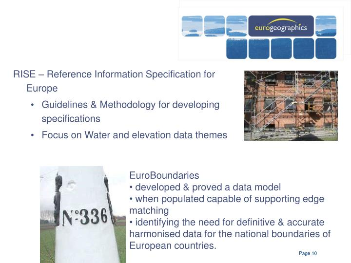 RISE – Reference Information Specification for Europe