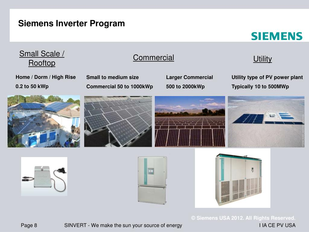 PPT - Siemens Solar PV: Presentation to SunSpec Alliance