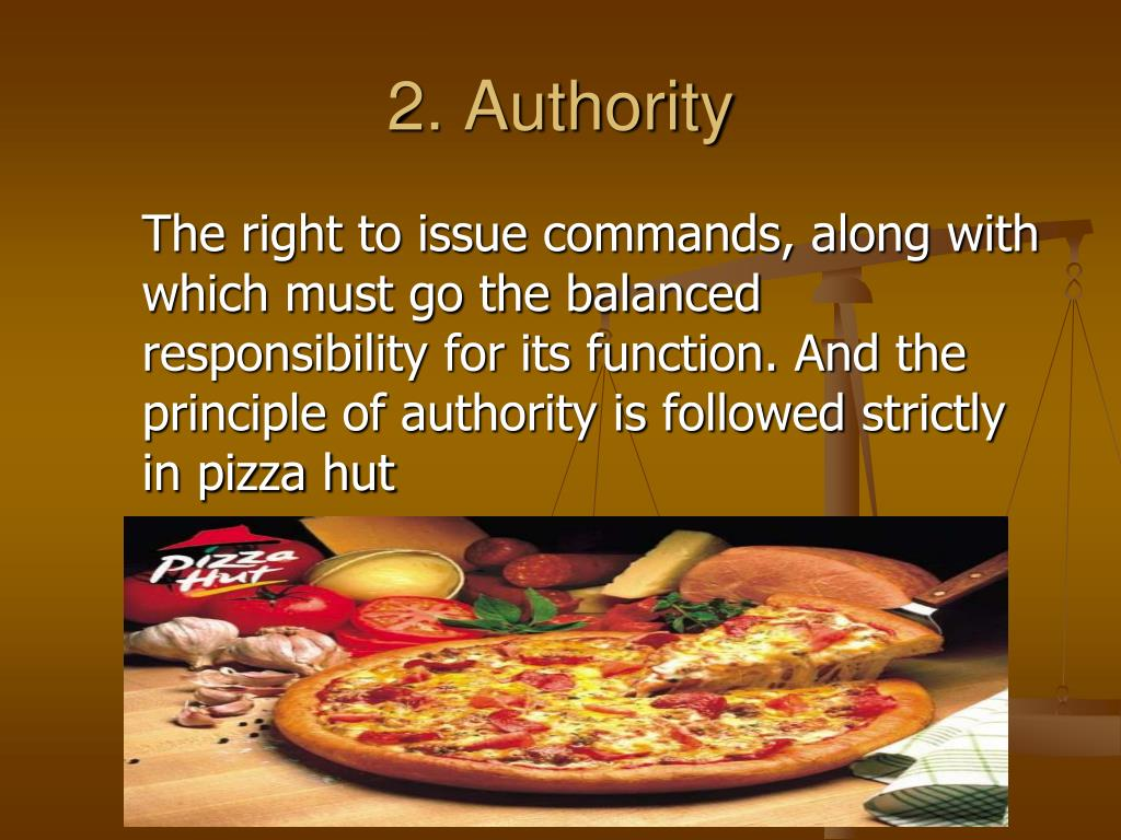 PPT - Henry fyol Principles Of Management followed by pizza hut