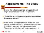 appointments the study