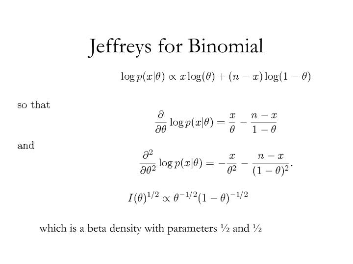 Jeffreys for Binomial