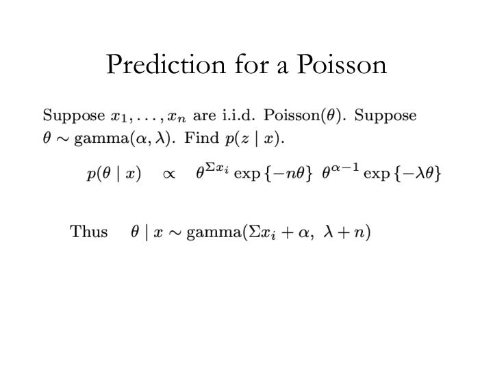 Prediction for a Poisson