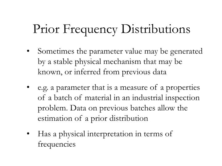 Prior Frequency Distributions