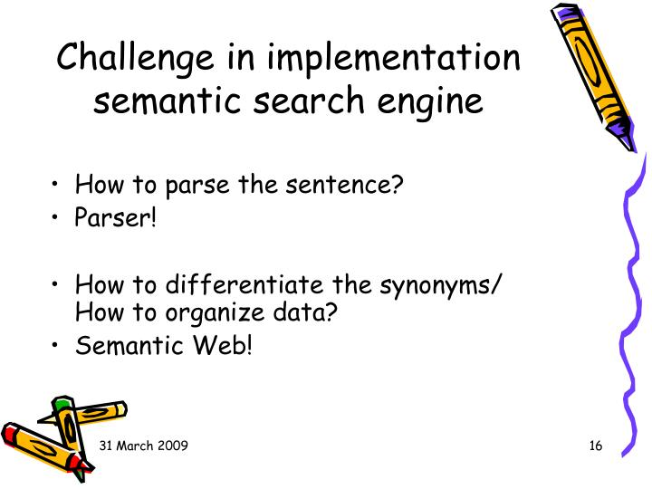 Challenge in implementation semantic search engine