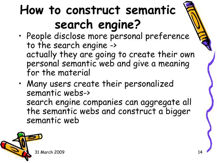 How to construct semantic search engine?