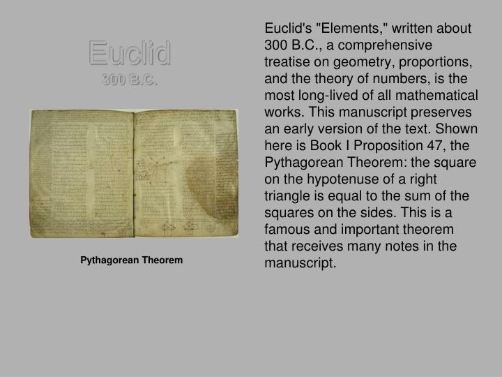 Euclid 300 b c