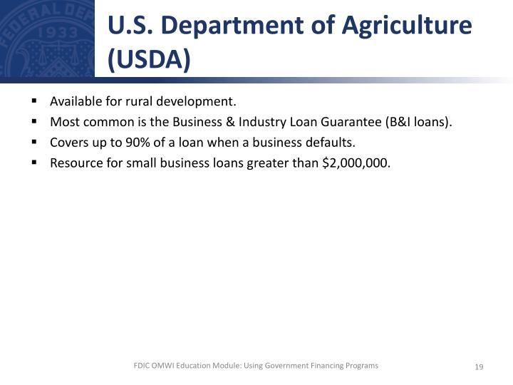 U.S. Department of Agriculture (USDA)