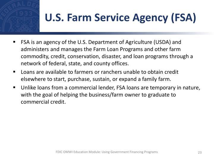 U.S. Farm Service Agency (FSA)