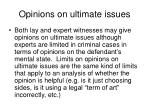 opinions on ultimate issues