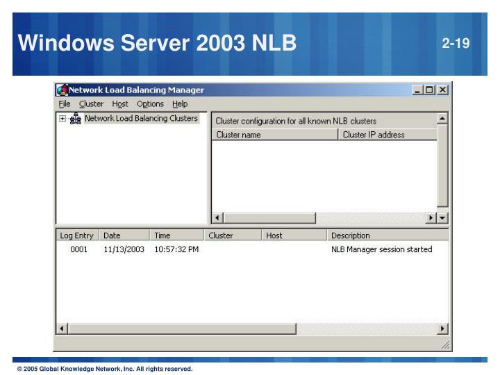 Windows Server 2003 NLB