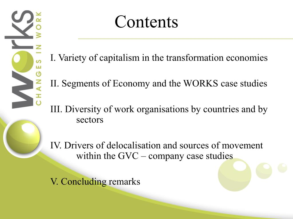 PPT - The Position of Transitional Economies in the New Global