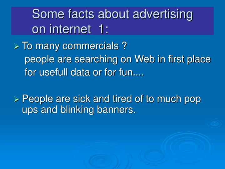 Some facts about advertising