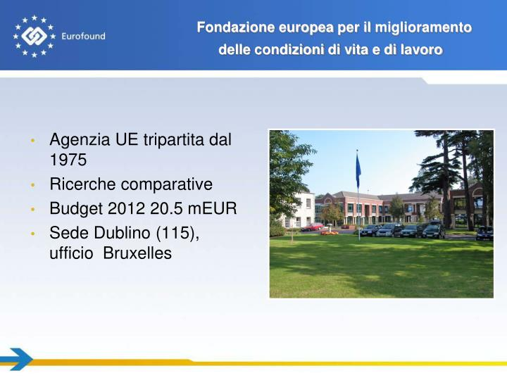 Fondazione europea per il miglioramento delle condizioni di vita e di lavoro