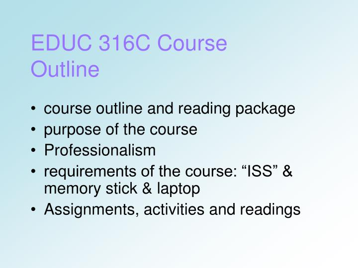 EDUC 316C Course Outline