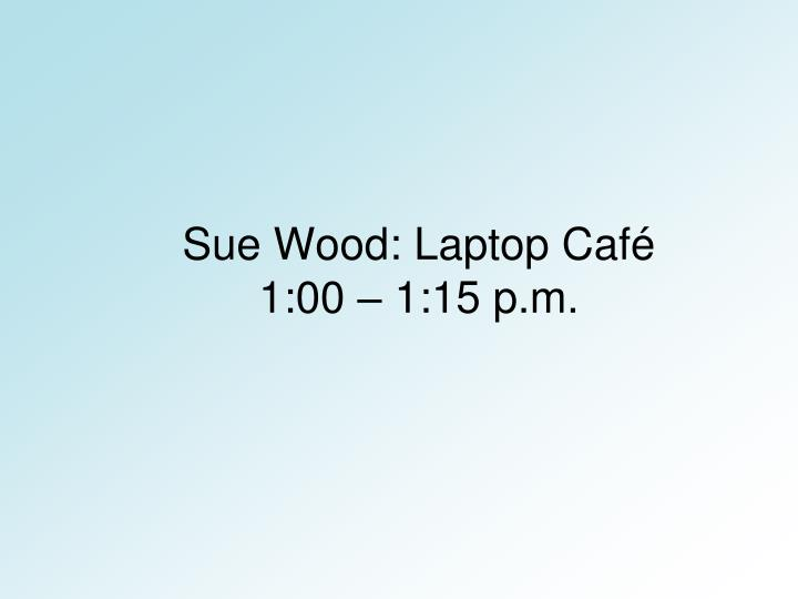 Sue Wood: Laptop Café