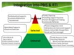 integration into pbis rti