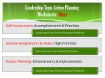 leadership team action planning worksheets steps