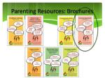 parenting resources brochures