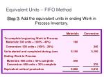 equivalent units fifo method3