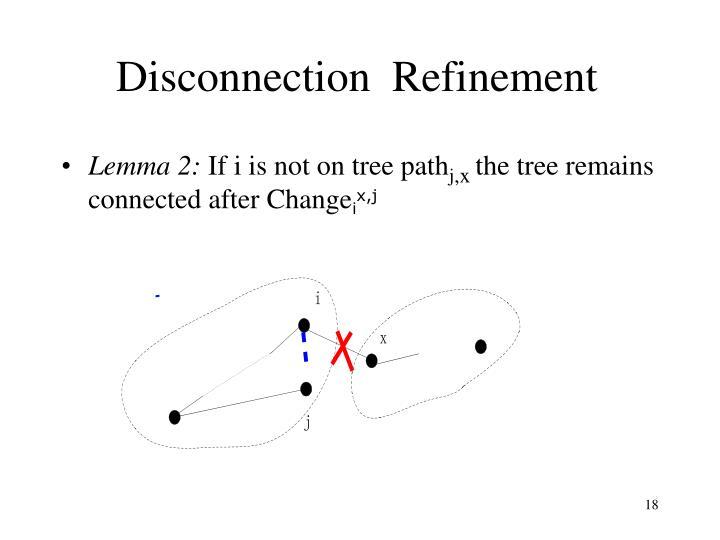 Disconnection  Refinement