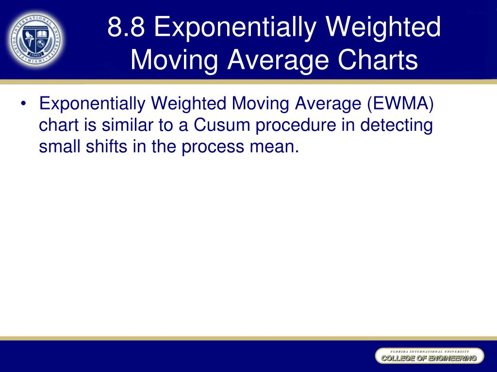 PPT - Chapter 8 Alternatives to Shewhart Charts PowerPoint