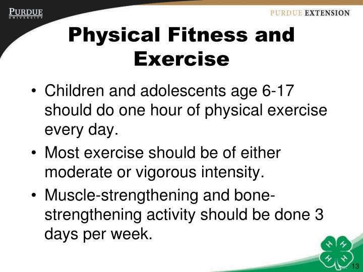 Physical Fitness and Exercise